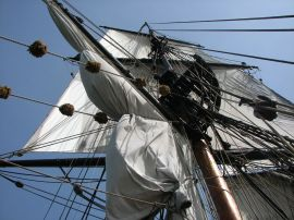 Main Mast on Brig Lady Washington